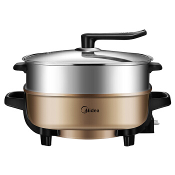 LK1795 New Multi Cooker 1500W 6L Double Layer Electric Hot Pot Infinite Firepower Adjustment Non-stick Pot with Stand Lid j35 multi function aluminum alloy 2 layer cooker household non stick electric hot pot maifan stone 12l 1900w with bamboo steamer