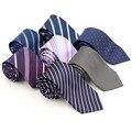 Fashion 8 cm Formal Striped Floral Printing Ties For Groom Men Neck tie Brand Red Black Gravata Business Wedding Party Cravat