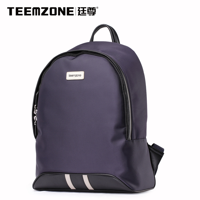 Brand Teemzone Men Canvas Waterproof Backpack Casual Travel Beach Bag Boys Laptop Backpack Teenagers School Bags Free Shipping roblox game casual backpack for teenagers kids boys children student school bags travel shoulder bag unisex laptop bags