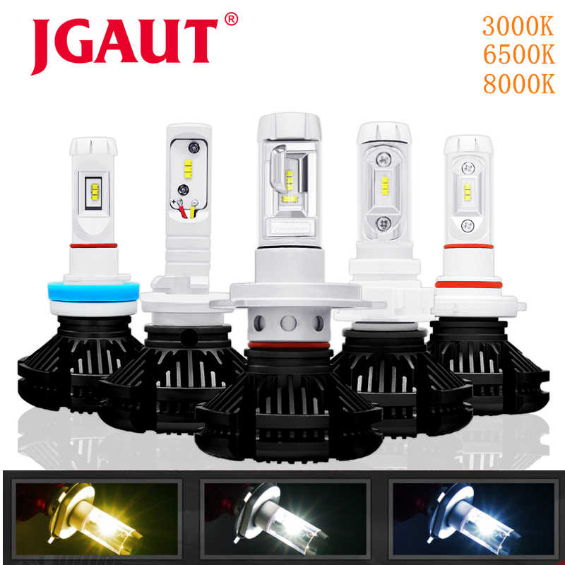 JGAUT H4 LED Car light H1 H3 H7 880 Fog Bulbs Automotive Lamp X3 H11 9005 9006 16000LM Headlight 3000K 6000K 8000K Blue Yellow