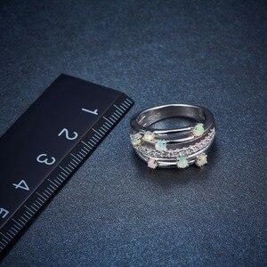 Image 4 - Hutang кольца с натуральным драгоценным камнем и опалом, серебро 925 пробы, обручальное кольцо , хорошее ювелирное изделие, элегантный дизайн для женщин, подарок, новое поступление
