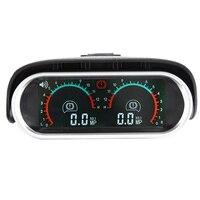 12v/24v Truck Car Racing Gauge LCD Digital Display Turbo Boost Gauge Car Double Barometer boost controller kit turbo tacometro