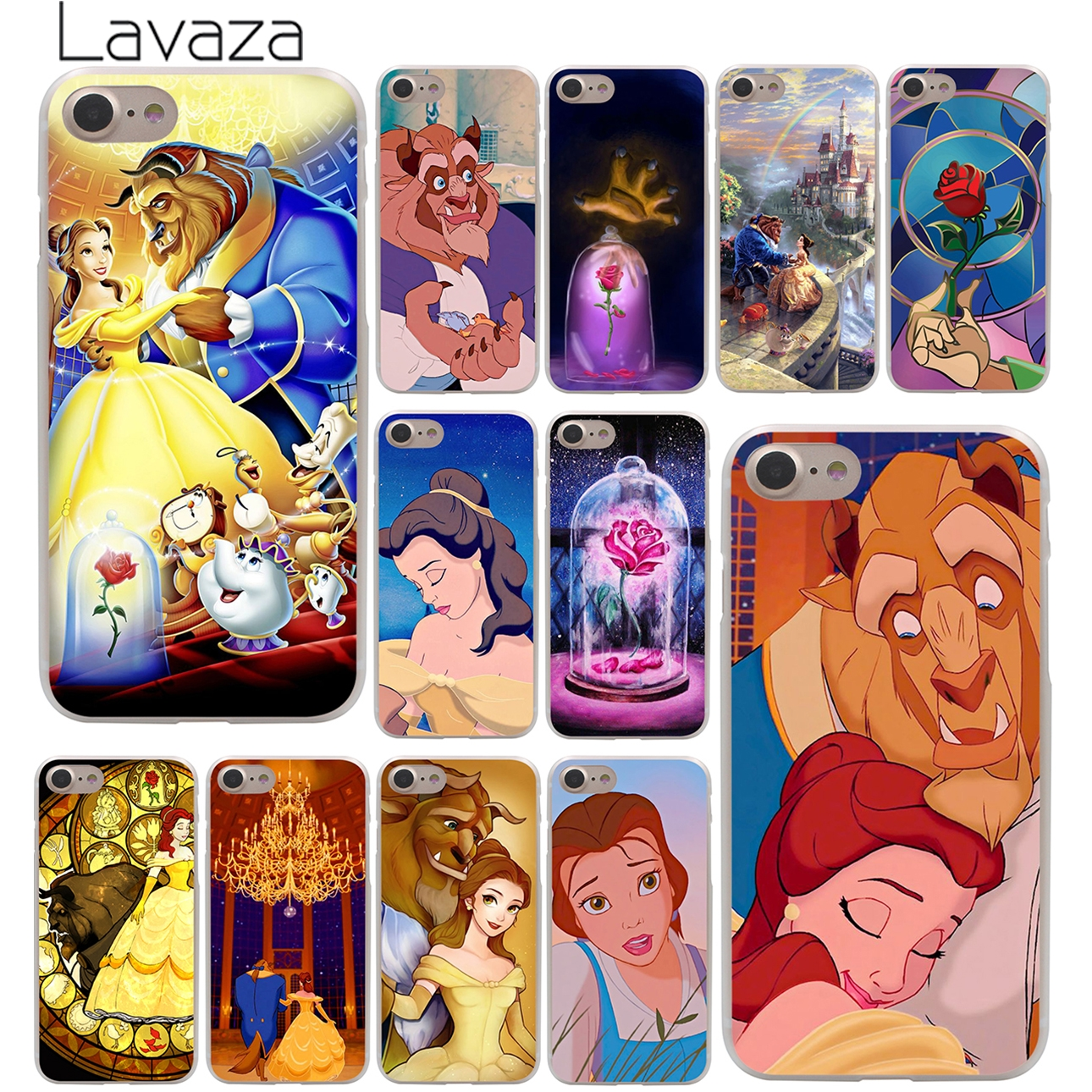 Beauty And The Beast Hard Case Transparent for iPhone 7 7 Plus 6 6s Plus 5 5S SE 5C 4 4S