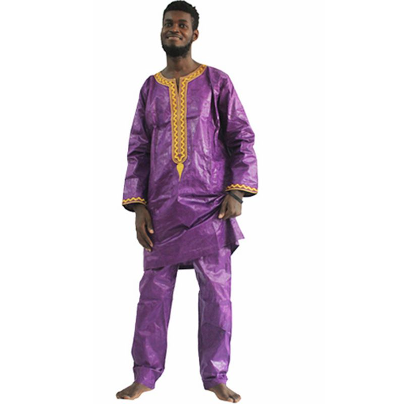 H D african bazin riche men africa dress embroidery traditional man clothes t shirt tops pant