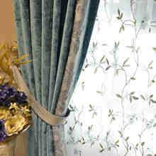 Роскошные шенилловые занавески в дворцовом стиле на заказ итальянские