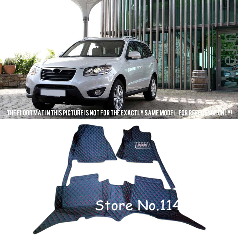 For Hyundai Santa Fe 7 Seats 2010 2011 2012 Special Duable Waterproof Auto Custom Car Floor Mats Full Set for mazda cx 5 cx5 2nd gen 2017 2018 interior custom car styling waterproof full set trunk cargo liner mats tray protector