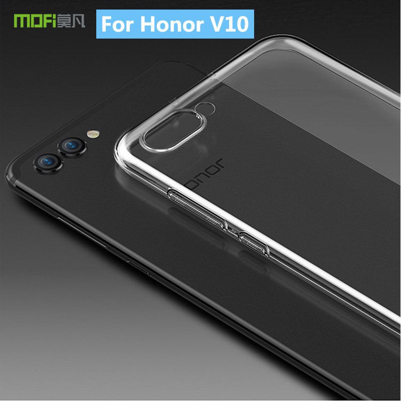 For Huawei Honor V10 MOFi Ultra Thin TPU Gel Silicone Soft Transparent Protective Phone Case Cover For Honor V10 Clear Case image