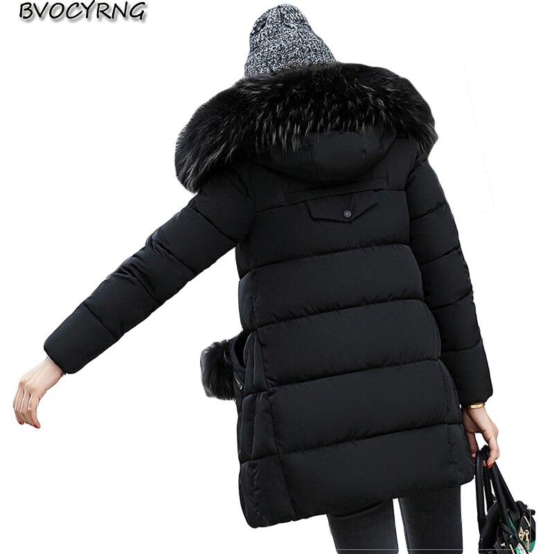 New Autumn Winter 2017 Big Yards Women Fashion  Long Style Elegant Jacket Coat Hooded Thickening Warm Cotton Loose Parka Q606 2016 autumn winter fashion big lapel casual woman long style coat
