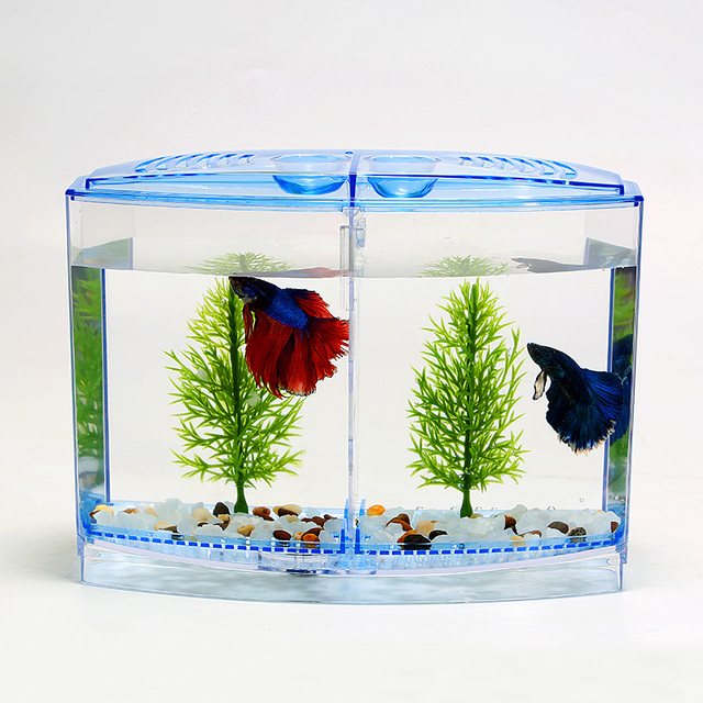 Guppy Kopen New Acrylic Aquarium Betta Tank Mini Incubator Fishbowl