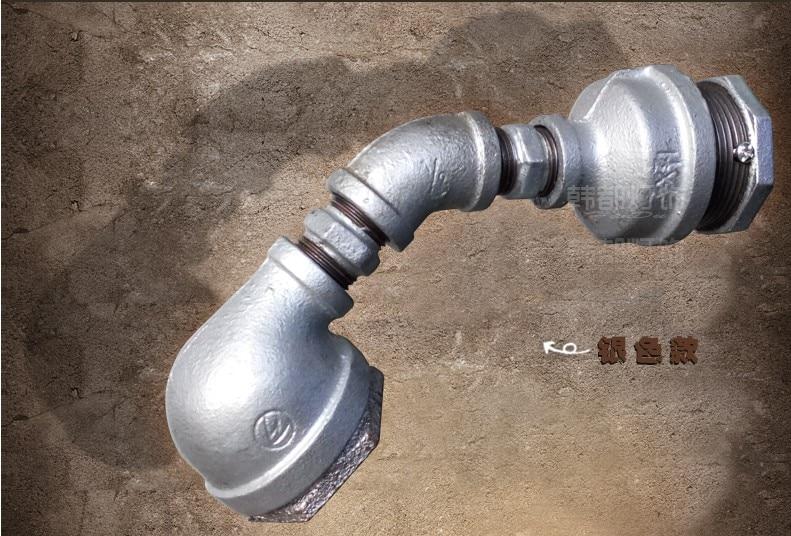 Tubo di acqua annata led lampade da parete loft stile industriale