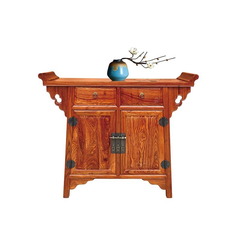 Armoire de gauchissement en bois massif Antique Ming et Qing armoire de salon classique hérisson tiroirs en palissandre GD054 113*91*38 cm