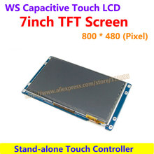7inch Capacitive Touch LCD 800*480 drive Demo board LCD TFT TTL Screen Display Module with Stand-alone Touch Controller