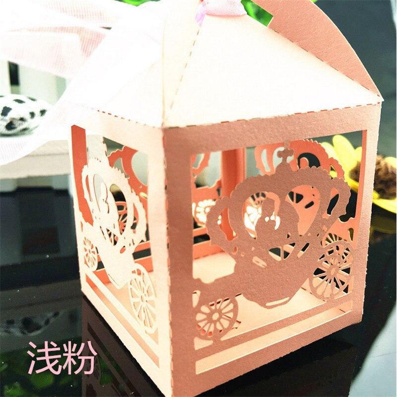 50pcs Wedding Candy Favor Box Wedding Invitations Gift Box Pumpkin  CarWedding Decoration Mariage Box Wedding Event