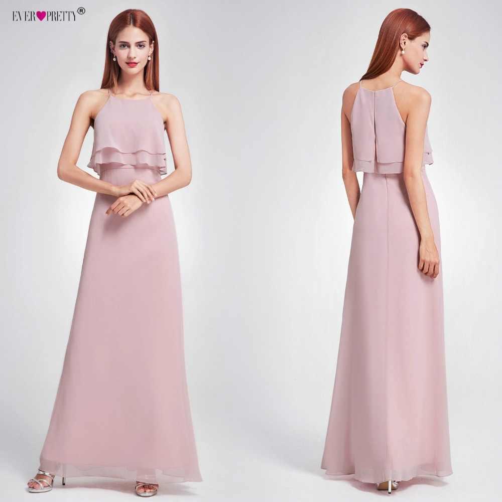179170104c ... Elegant Bridesmaid Dresses Ever Pretty EP07130 Long Chiffon Dress  A-line Ruffle 2018 Bridesmaid For ...