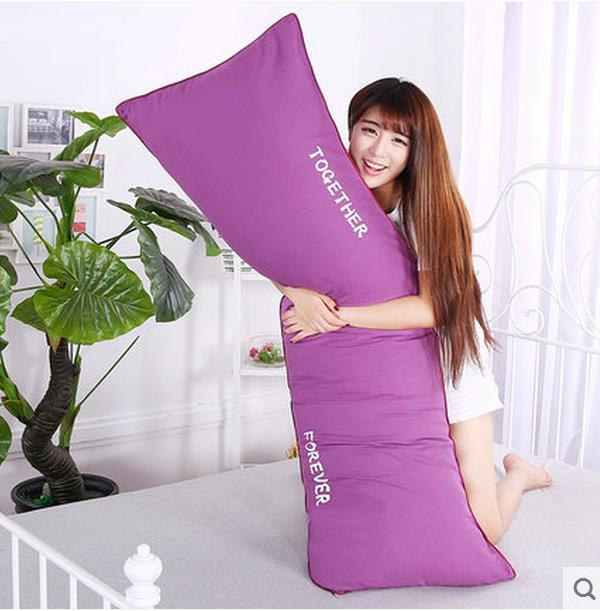 Pillowcase double pillowcase 1.2/1.5/1.8 m meters long lovers wedding a single set of pillow free shipping