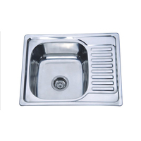 304 Kitchen Stainless Steel Sink 5848 With Siphon Match Accessary Free Shipping With Siphon Drainer Hole