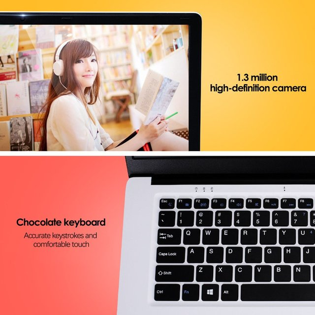 Quad Core 4G 64G Laptop Notebook For Businesses, School, Leisure, Thin, Light Weight, Easy To Carry Around, A10 15.6 Inch Intel Z8350