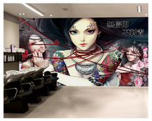 beibehang Classic thick three-dimensional wall paper retro hand-painted tattoo beautiful studio decoration background wallpaper