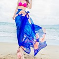 Summer Beach Scarves Hibiscus Print Chiffon Hawaiian Dresses Sexy Women Sarongs Swim Bikini Cover Up Wraps Scarf Hijab Plus Size