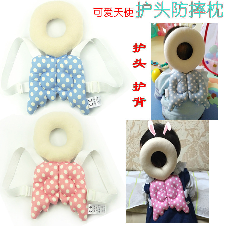 High-quality Wholesale Angel Cartoon Cotton Baby Anti Roll Pillow Massager Infant And Newborn Nursing Pillows Bedding For Kids