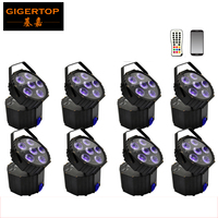 Профессиональный 8x LED PAR 6*18 Вт светодиоды Smart DJ S4 питание от аккумулятора беспроводной DMX Свадебный uplight свет RGBWA УФ 6in1 Вечерние огни