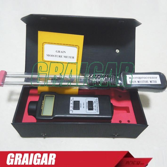 MC7821 Grain Moisture Meter Tester MC-7821 Moisture Content 8-20% mc 7825p digital pin type moisture meter with moisture meter wet water content analyzer 0 80%