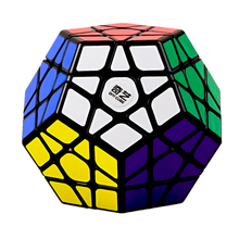QIYI 3X3 Megaminxeds Magic Cube Black White Speed Professional 12 Sides Puzzle Cubo Magico Educational Toys For Children