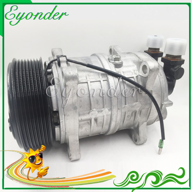AC A/C Compressor Cooling Pump PV8 12V Zexel TM16 HD for Universal freezer truck Carrier Thermo King Hubbard 10356120 8800022 5 pcs qdzh35g r134a 12v cooling compressor for marine refrigeration unit