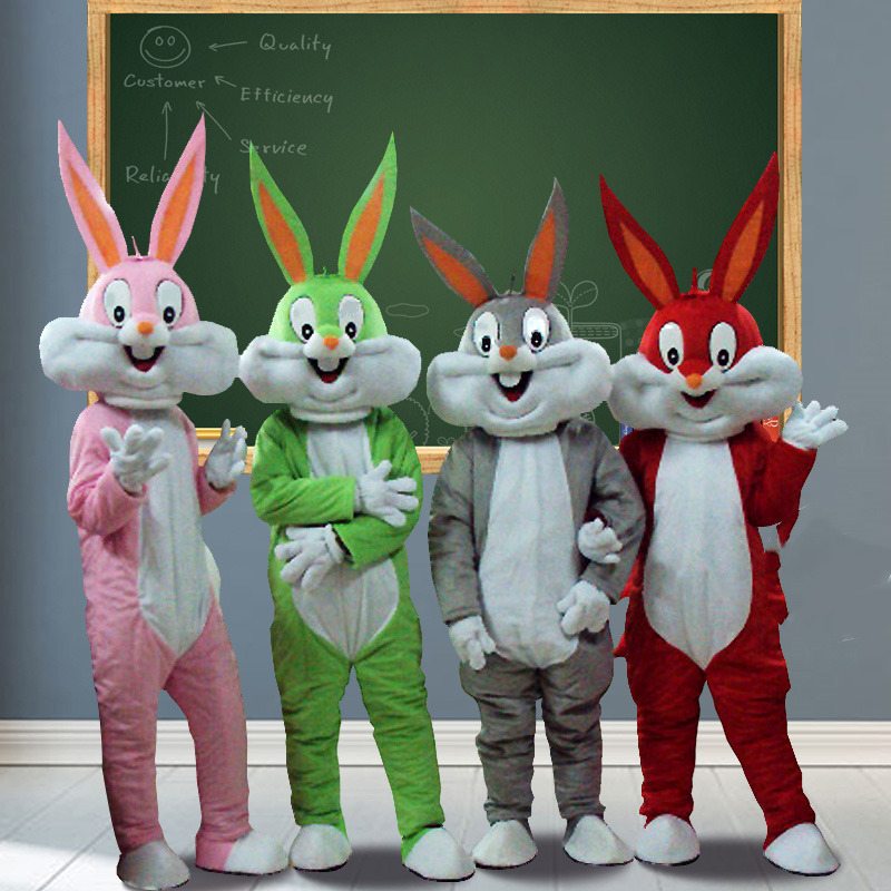 Pas cher Bugs Bunny Lapin Robe Adulte Costume De Mascotte de Dessin Animé