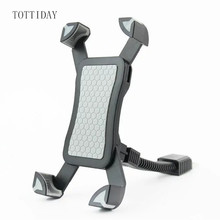 Tottiday Motorcycle Mobile Phone Holder Stand Motorbike rearview mirror Mount Bracket for iphone samsung huawei xiaomi LG