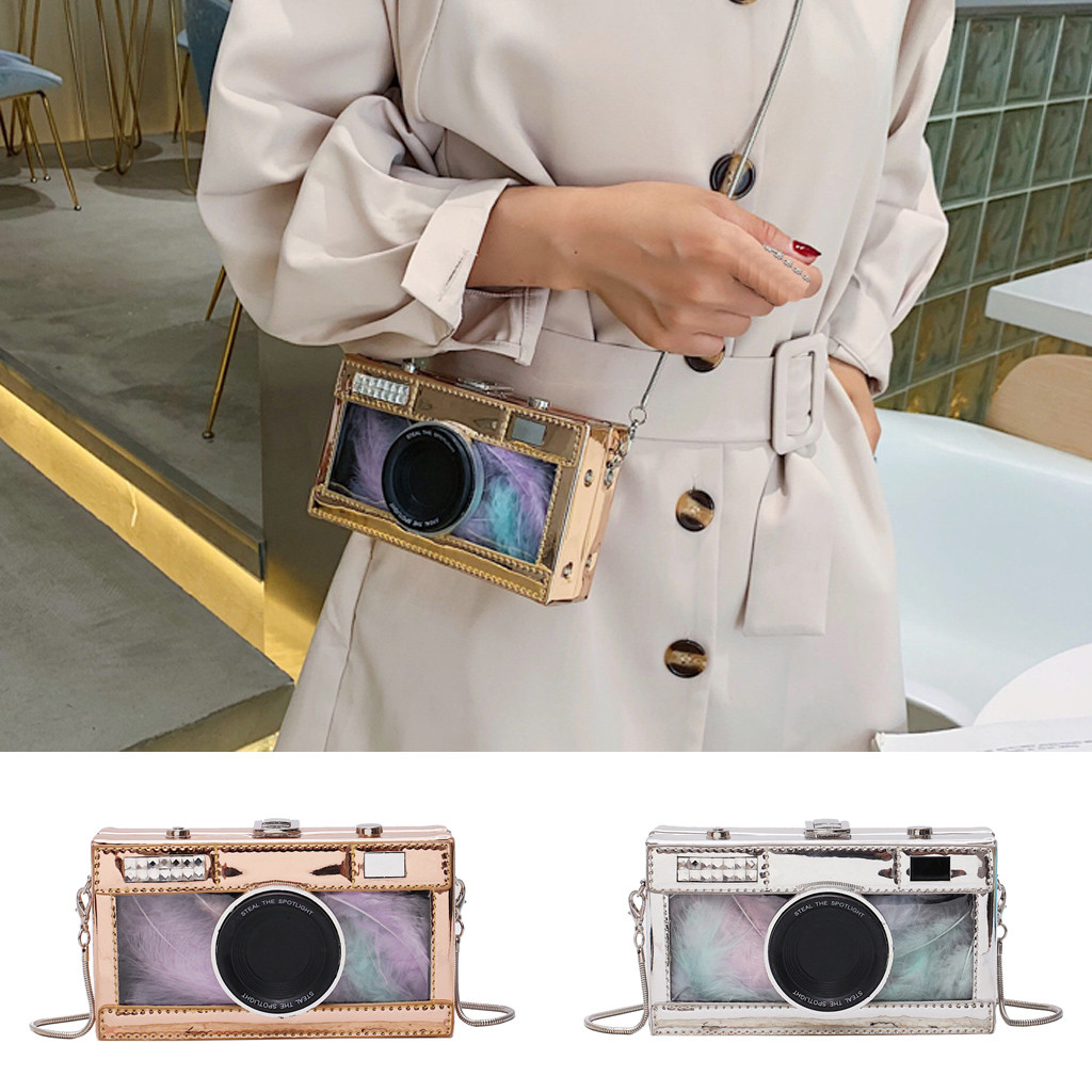 Vintage Handmade Camera-Like Leather Shoulder Bags Straps Bow Hasp Holiday Beach Crossbody Bag Messengers Women Handbag(China)