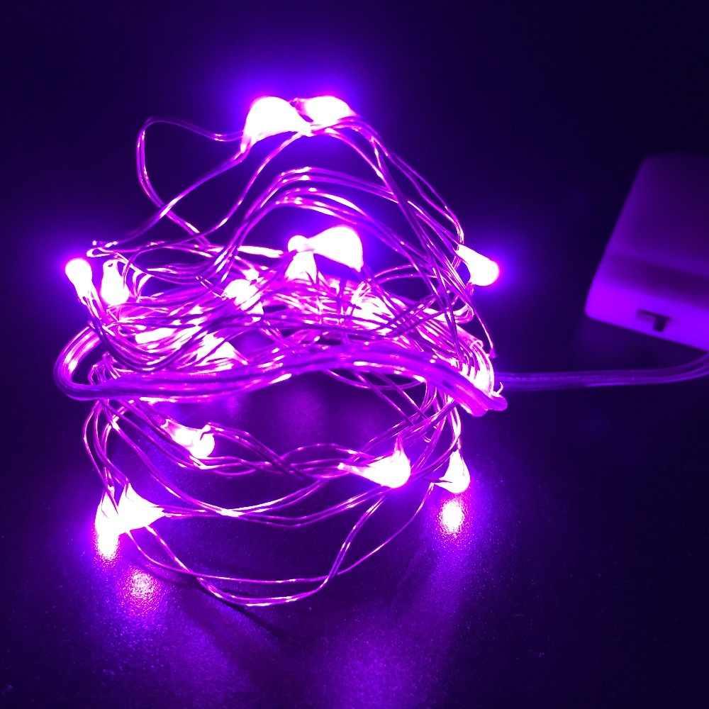 1/2/5/10 m 10-100 נוריות חג המולד זר נחושת חוט LED מחרוזת מנורת פיות למקורים חדש שנה חג המולד חתונת קישוט