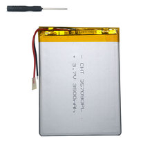 купить 7 inch tablet universal battery pack 3.7v 3500mAh polymer lithium Battery for Digma Plane 7700B 4G +tool accessories screwdriver по цене 702.11 рублей