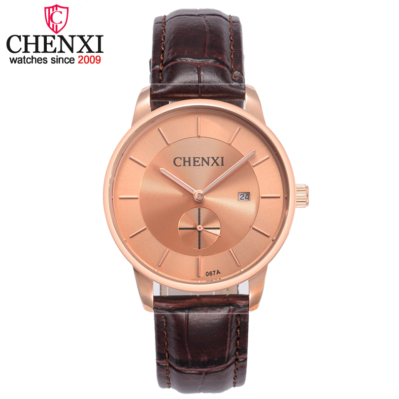 CHENXI Brand Fashion Casual Five Colors Leather Watches Ladies Date Display Quartz Women Wristwatch Small Work Dial Watch Female