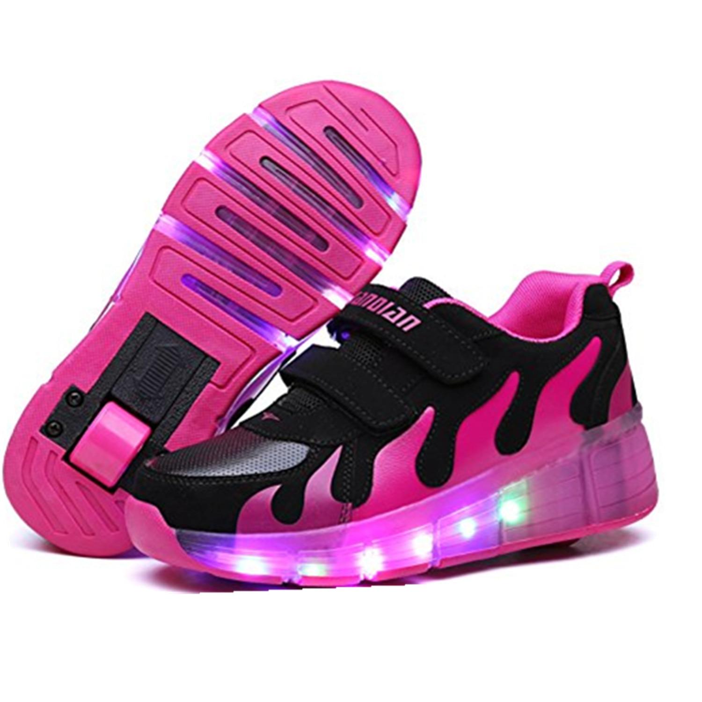 Roller shoes shop - Kinder Heelies Shoes Mit Led Leuchten Kinder Roller Shoes Mit R Dern Verschlei Fest F R Jungen M Dchen