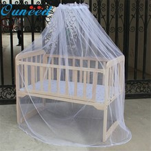 2018 New Style Hot Selling Baby Bed Mosquito Net White Mesh Dome Curtain Net for Toddler Crib Cot Canopy Dropshipping Item(China)