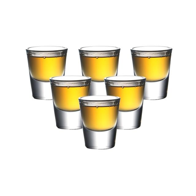 c83a3ad394 Set of 6 1 ounce mini whisky glasses machine made lead free glass liquor  glass shot glasses 30ml