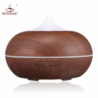 GX Diffuser 300ML LED Lamp Electric Aroma Diffuser Aromatherapy Essential Oil Diffuser Humidifier Ultrasonic Mist Maker