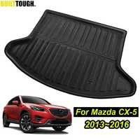 สำหรับ Mazda Cx-5 Cx5 2012-2014 2015 2016 Boot ด้านหลังด้านหลัง Trunk Cargo กระเป๋าเดินทางชั้นถาดพรมโคลน kick Protector Guard