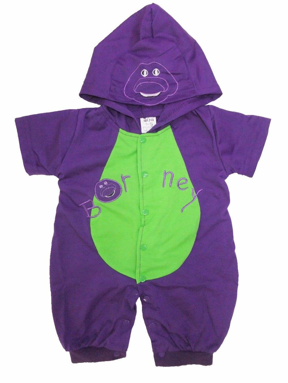 6 mesi-2 anni manica Lunga e manica corta Bambino Comic Teletubbies barney Halloween Costume, Bambino latte Super-fa Tute