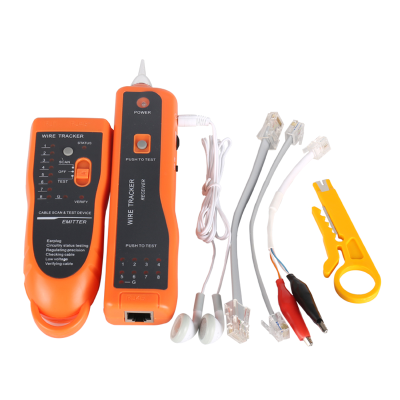 Venta caliente RJ11 RJ45 Cat5 Cat6 de alambre de teléfono Tracker rastreador Toner Ethernet de red LAN Cable Tester Detector de línea de