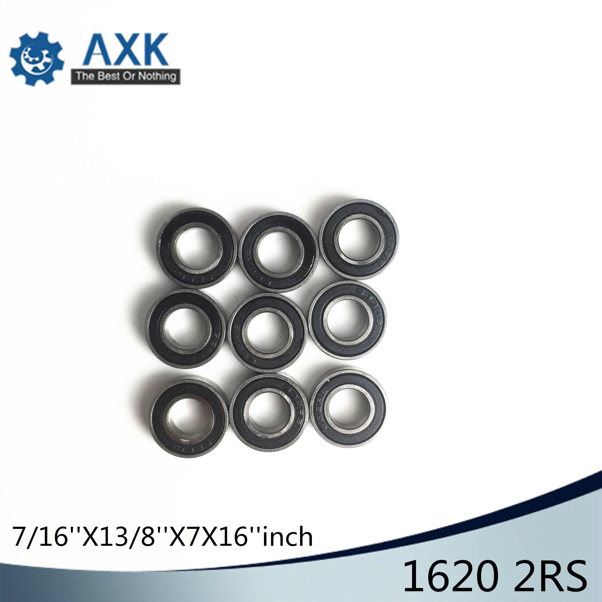 1620 2RS ABEC 1 (10PCS) 7/16x1 3/8x7/16 inch Ball Bearings 11.11mm x 34.93mm x 11.11mm 1620RS