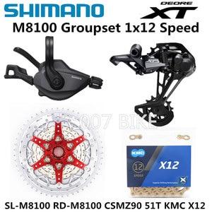 Image 2 - SHIMANO DEORE XT M8100 مجموعة الدراجة الجبلية MTB 1x12 Speed CSMZ90 11 51T SL + RD + CSMZ90 + X12 M8100 محول خلفي Derailleur