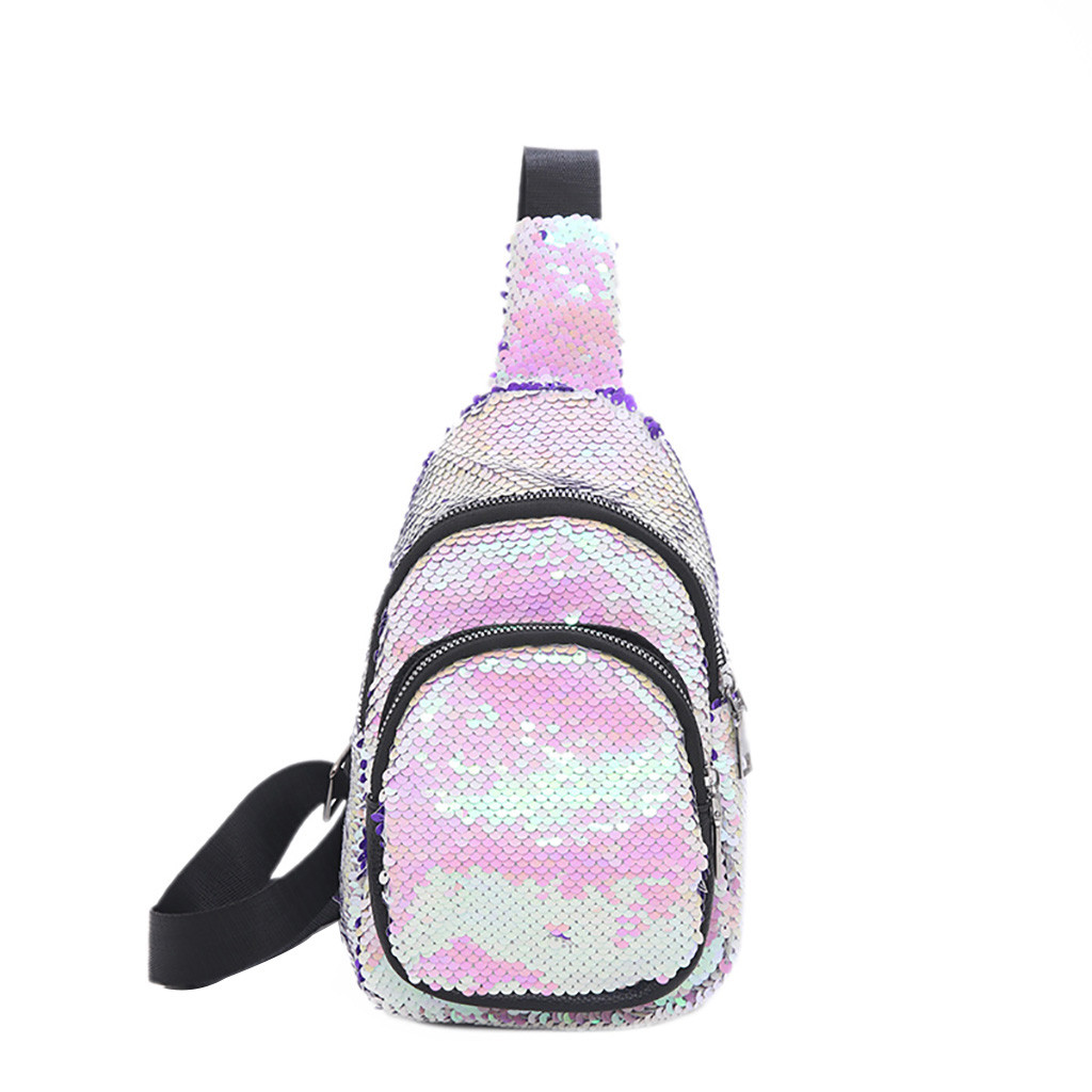 fanny pack for women waist money belt chest bag Women Scrub Vintage Joker Shoulder Sequin holographic Bag sac banane femme#10 holographic belt purse