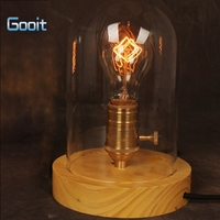 American Country Vintage Style Style Solid Wood LOFT Retro Table Lamp Edison Lighting Lampholder