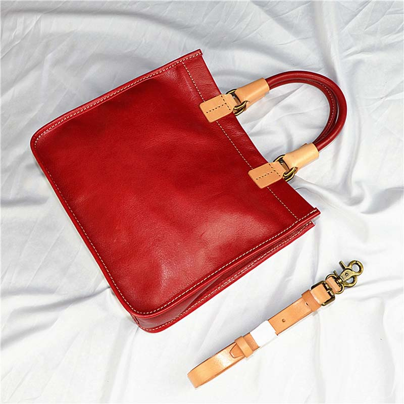 2018 explosion models color first layer cowhide handbags simple art handbags hand planted suede handbag