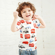 Little maven Boys tshirt kids Short Sleeve t shirt Boys Shirt for 18Month to 6T Child My Little Bus