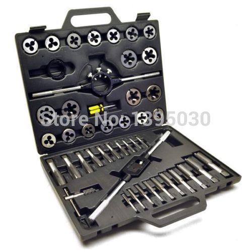 1Set Alloy steel 45pcs Metric/British Taper Tap Drill Bit Screw Die Thread Tool Set 20pcs m3 m12 screw thread metric plugs taps tap wrench die wrench set