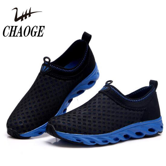 durable modeling men/man wide range 2017 summer new comfortable breathable mesh barefoot running shoes large  size canvas men's wild sports shoes free shipping#6