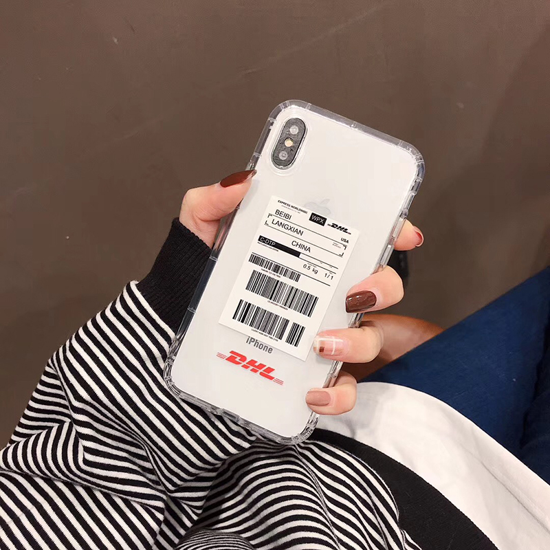 , Hot Street trend Stripe label phone case for apple iphone 6 6S plus 7 7plus 8 8plus X XS XR MAX Transparent Anti-fall cover capa